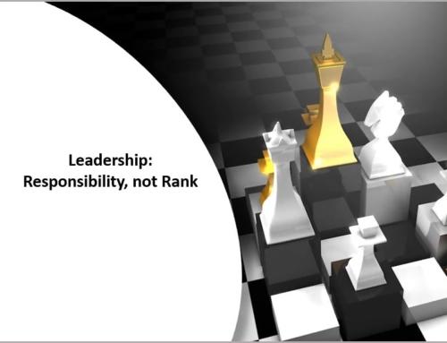 Leadership Responsibility not Rank